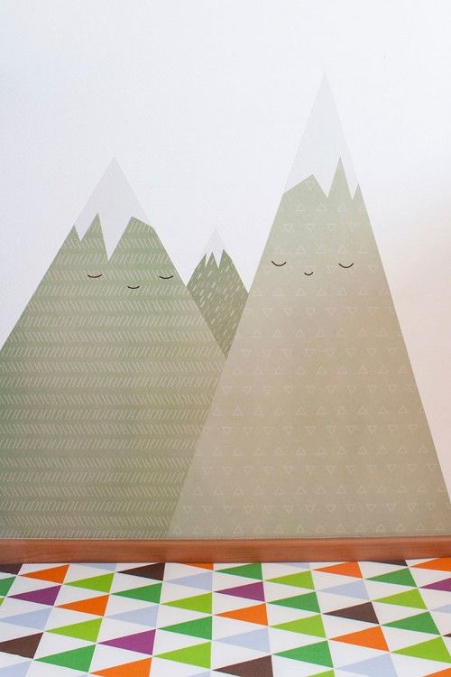 Landscape wall sticker by Apanona for Camaloon in Laia Arriols and Jaume Gibert's home in Spain
