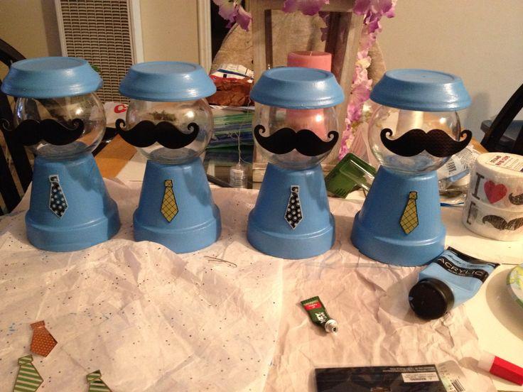 #mustache #candy #BabyShower #centerpieces