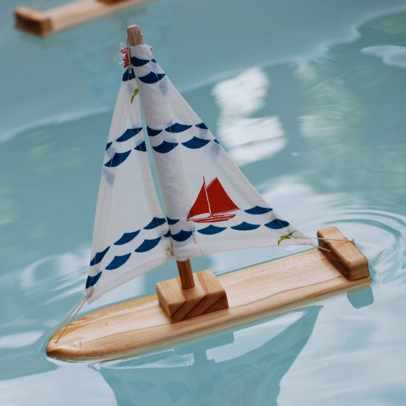 NEW Organic Nautical Wooden Sailboat by TweetToys on Etsy, $20.00