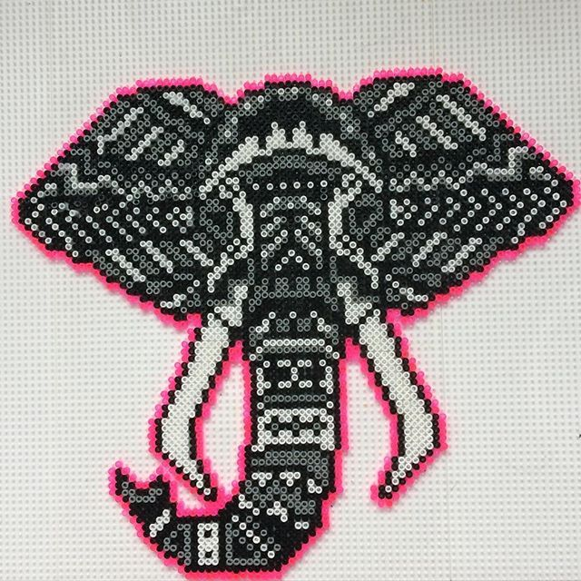 Tribal elephant hama beads by randomdanishcitizen