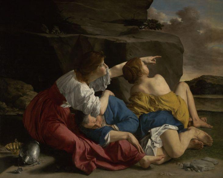 Orazio Gentileschi, Lot and HIs Daughters. Photo: courtesy the J. Paul Getty Museum.