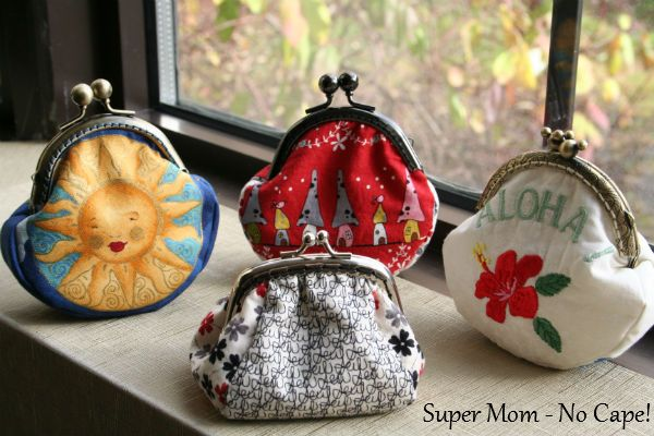 Coin purses!  Tutorial can be found here:  http://www.supermomnocape.com/2012/11/10/coin-purse-tutorial-and-free-pattern/