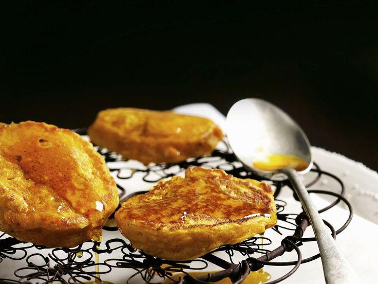 Kürbis-Pancakes mit Zimt | Kalorien: 509 Kcal | http://eatsmarter.de/rezepte/kuerbis-pancakes-mit-zimt
