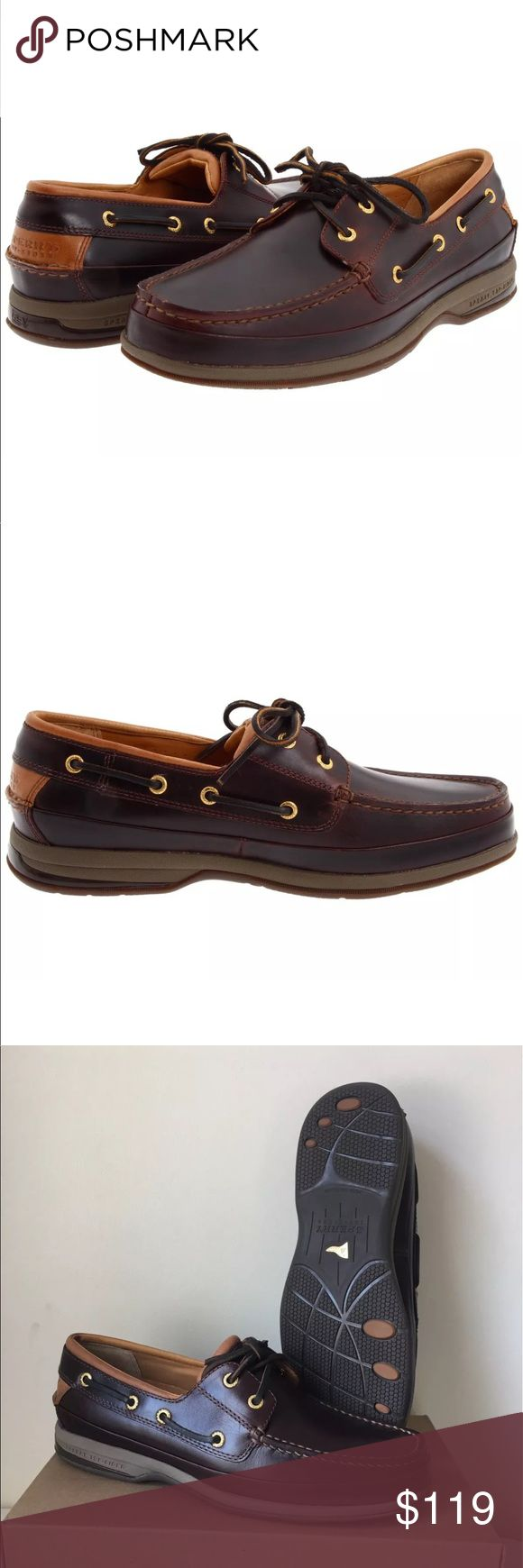 SPERRY GOLD CUP ASV 2 EYE BOAT SHOE AMARETTO MENS Sperry Gold Cup Boat Shoe ASV Amaretto  $179 new in box no lid on box perfect condition except for one tiny mark on Leather on top of shoe see photo  A hand-sewn boat shoe is fully lined with genuine lamb skin for ultrasoft comfort while a nonmarking rubber sole is wave-siped for ultimate wet-dry traction. The Gold Cup Collection takes the inimitable Sperry style to the next level with hand-burnished leathers, meticulous design & 18K…