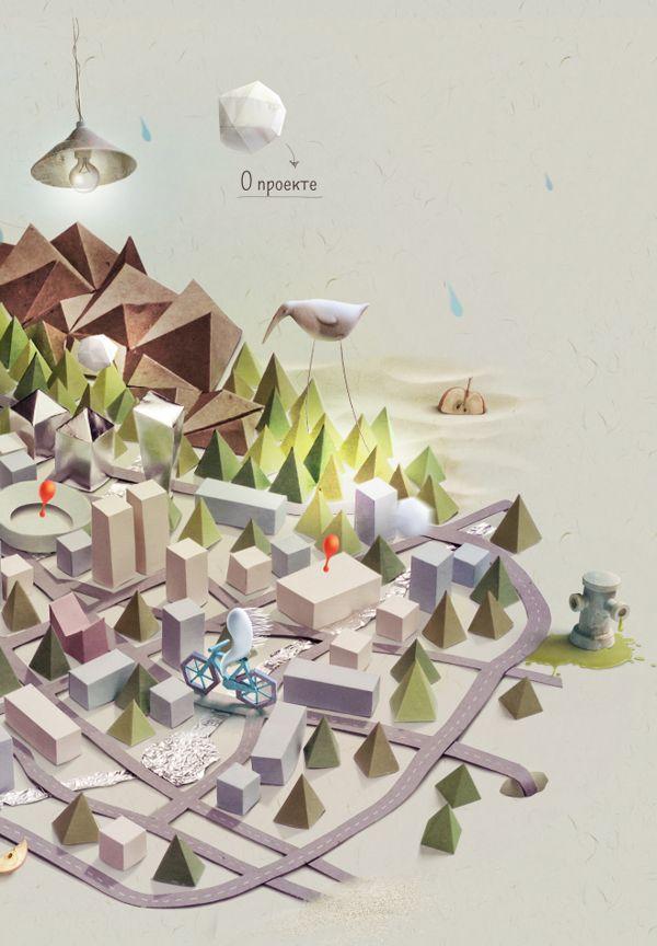 Art-remapping by Olesja Kisser, via Behance