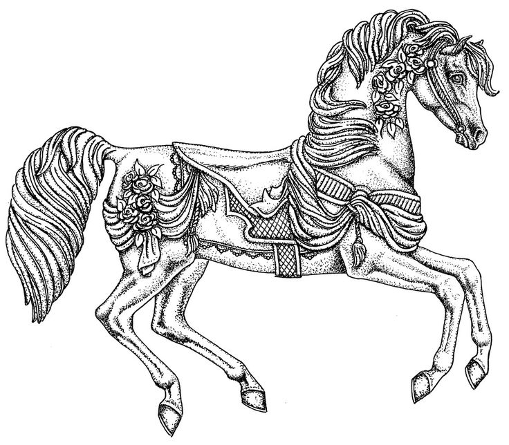 coloring pages of carousel zebra - photo#33