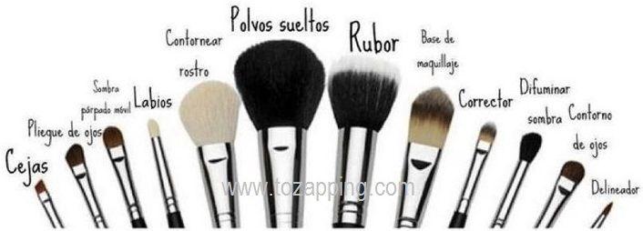 Tipos de brochas y para que se usa cada una.Usa tus brochas y pinceles de maquillaje,cada una de ellas tiene una función específica,tipos de brochas y para