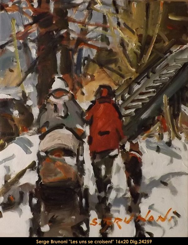 Original acrylic painting on canevas by Serge Brunoni ew BOOK available october 19,2014 #sergebrunoni #art #artist #canadianartist #quebecartist #originalpainting #fineart #figurativeart #acrylicpainting #winterscene #cityscene #balcondart #multiartltee