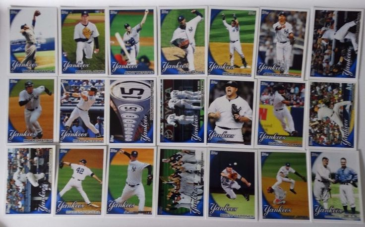 2010 Topps Series 1 & 2 New York Yankees Team Set of 21 Baseball Cards #topps #NewYorkYankees