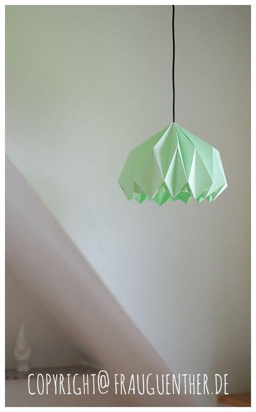 DIY    Origami Papierlampe ° Origami Paper Lamp  ° Lampe aus Papier falten ° Tutorial ° Anleitung, Origami Lampe falten, Lampenschirm selber machen