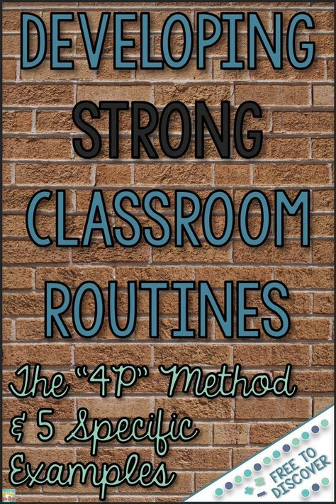 Building strong routines is essential in any classroom, especially in the beginning of the year. From routines for turning in papers to establishing the restroom procedure, it is important that students know what is expected of them. Whenever considerin