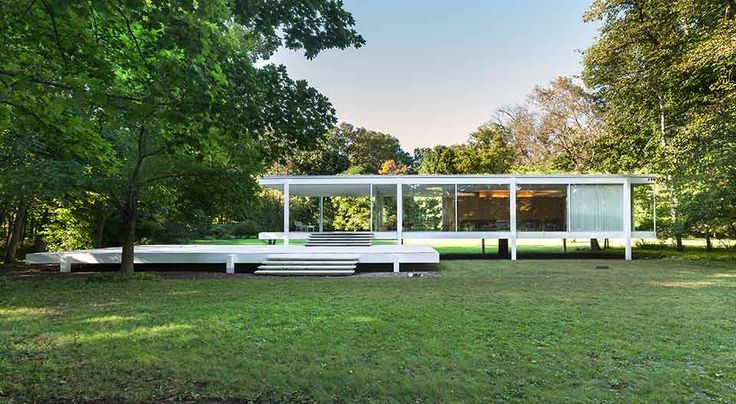 Designed by Mies van der Rohe in 1945 and constructed in 1951, the Farnsworth House is a vital part of American iconography, an exemplary representation of both the International Style of architecture as well as the modern movement's desire to juxtapose the sleek, streamline design of Modern structure with the organic environment of the surrounding