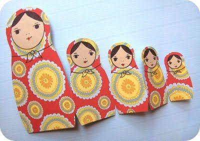 Matryoshka Doll Card