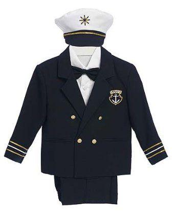 Amazon.com: Navy Blue Baby Boy & Boys Captain Sailor Tuxedo Suit, Special occasion suit, Pants, Jacket, Bowtie, Shirt, Hat: Clothing