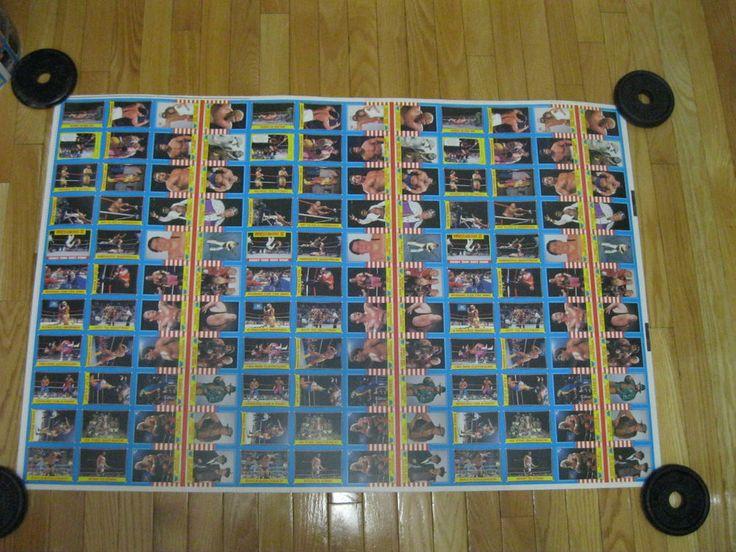 1987 O PEE CHEE OPC WWF WRESTLING UNCUT 132 CARD SHEET HOGAN,,ANDRE-GIANT-RARE