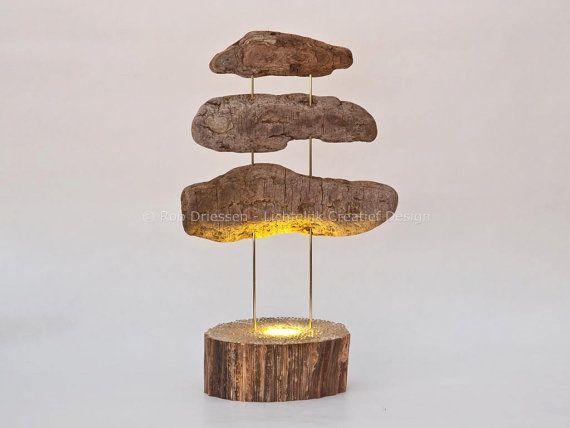 Driftwood sculpture, moodlight  #sculpture #driftwood #lightart #lightobject #handmade #moodlight #ledlight #madeinholland #drijfhout #schors