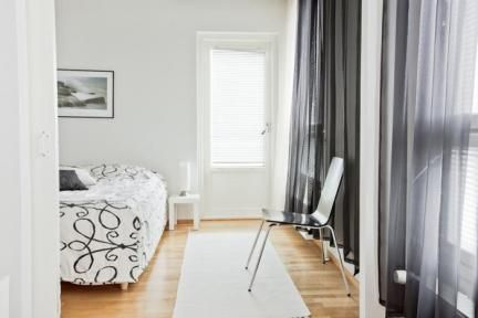 Looking for a Hotel in Oulu? Here is one of our furnished 1-bedroom apartments with sauna presented on the Red Apple Apartments website. Modern Apartment in the City Center.