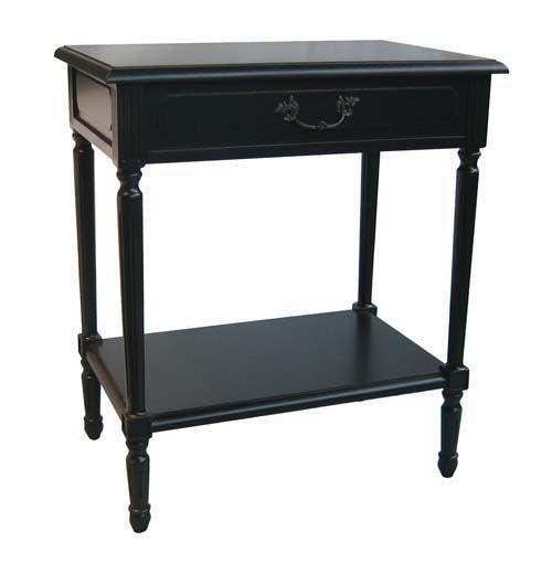 Marguerite Lamp Table, Antique Black - Bedside Table   Interiors Online $455 Master bed