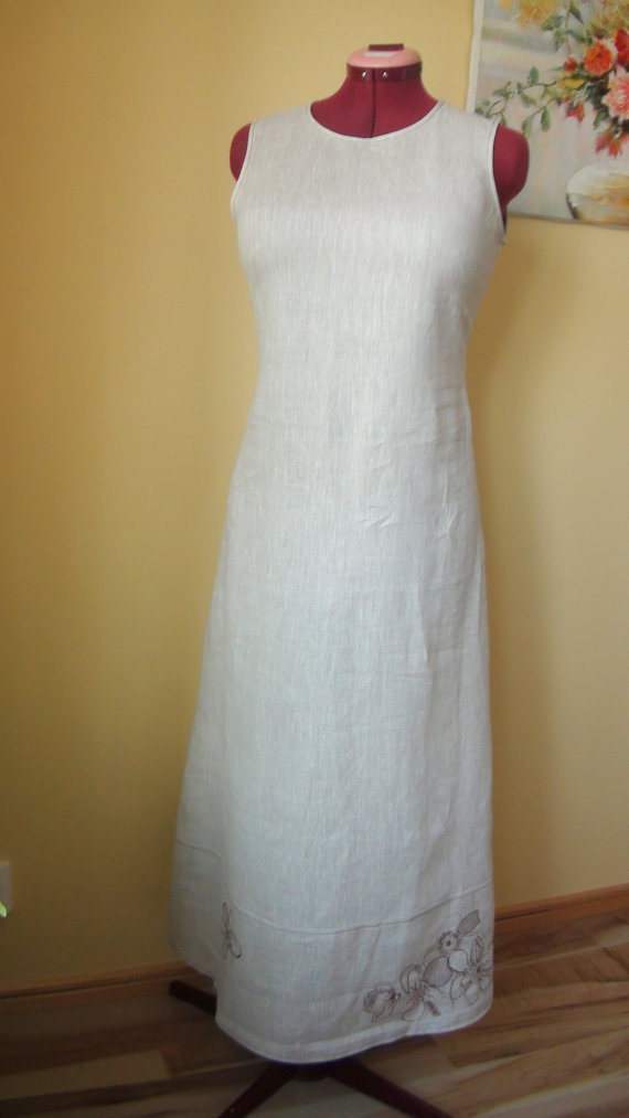 Linen Dress  Eco friendly size M by HandyMaria on Etsy, $99.00