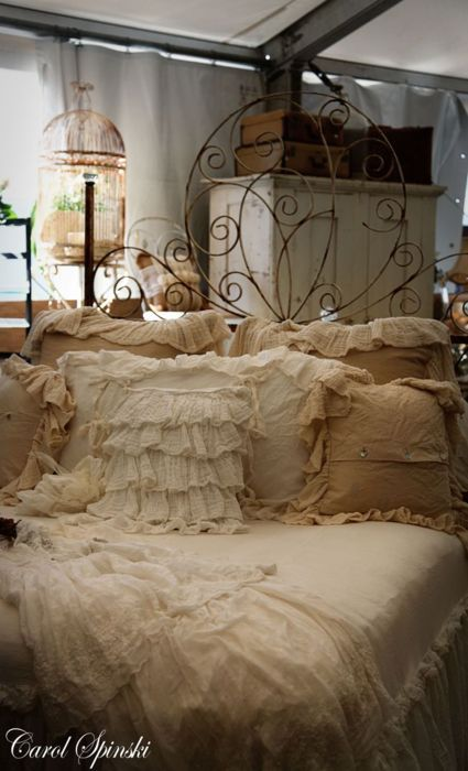 Lace and burlap and ruffles - bliss <3