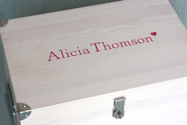 Girlie tuck box personalised in pink