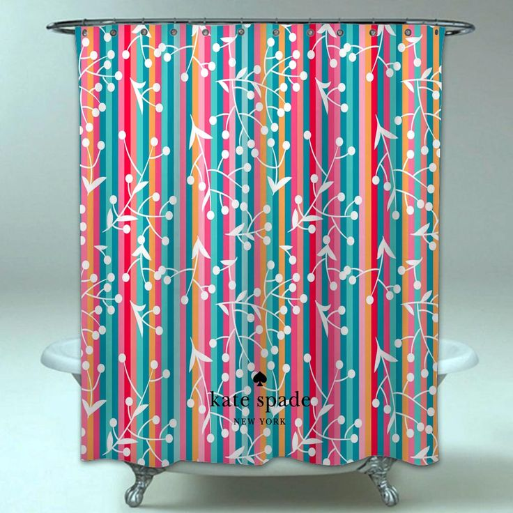 Kate Spade Floral Colorfull Surface Beautiful Waterproof Shower Curtain <a class=
