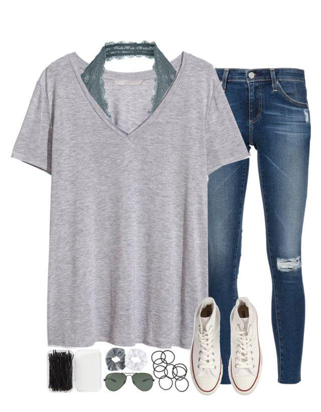 Calças de ganga • t-shirt Tommy • renda azul • sapatilhas azuis ou brancas