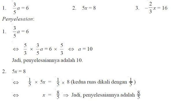 Pengertian Dan Contoh Soal Persamaan Linear Satu Variabel Plsv Berpendidikan Persamaan Sistem Persamaan Satuan