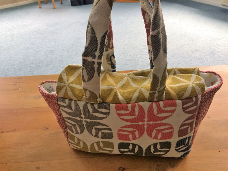Dolls diaper bag made from furnishing samples cost 50c lined with a thin toweling material