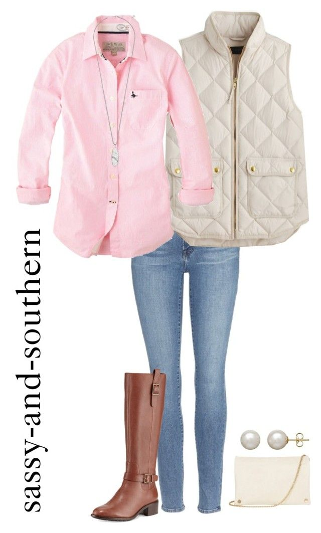 """""""cute fall outfit"""" by sassy-and-southern ❤ liked on Polyvore featuring Frame Denim, J.Crew, Jack Wills, Cole Haan, Kendra Scott, Honora and Oasis"""