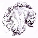 Realistic octopus tattoo design,  #Design #Octopus #Realistic #realisticOctopusTattoo #Tattoo