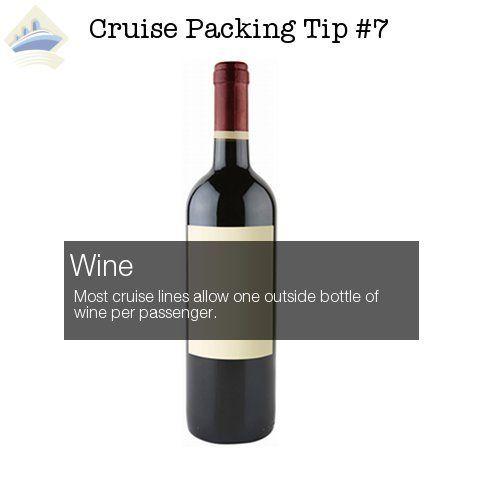 cruise packing tip 7 - wine