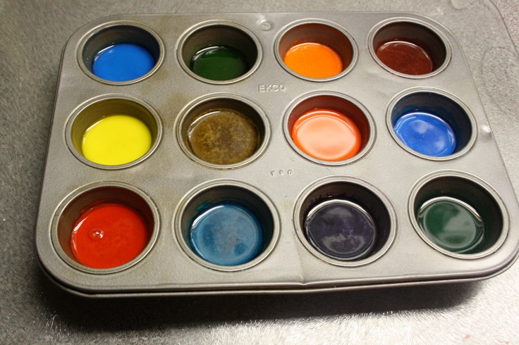 home made water color paints