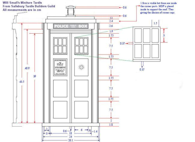 Best TARDIS Designs And Plans Images On Pinterest Tardis - Front door dimensions
