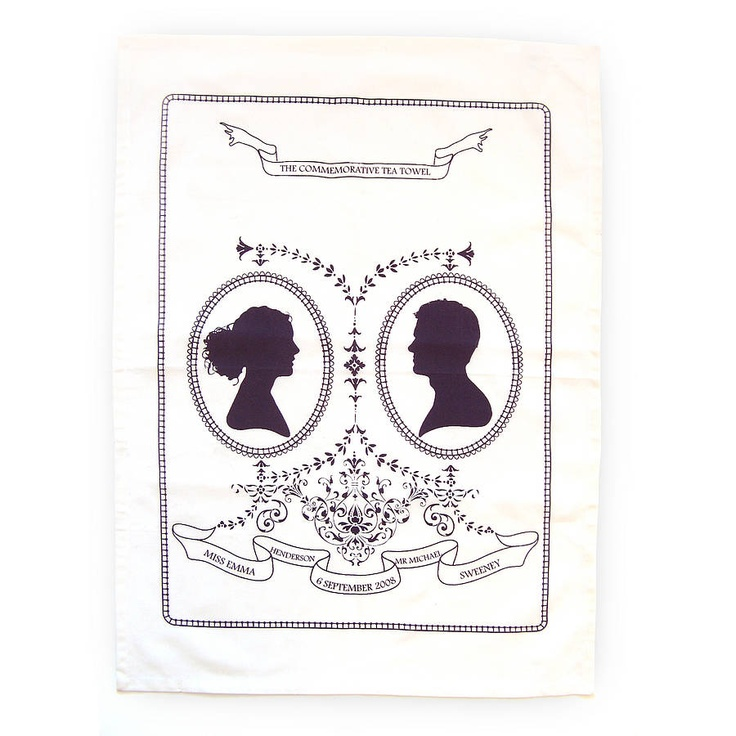 Personalised Tea Towel Wedding Favour