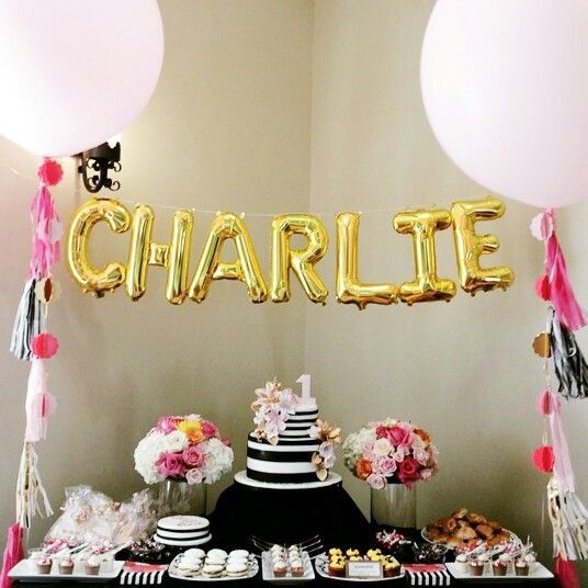 CUSTOM 16 balloon name banner Gold Foil Mylar by dsignpapershop