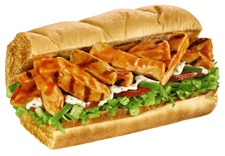My favorite sub from Subway (buffalo chicken), but I like mine on flatbread with lettuce, tomato, green pepper, cucumber, and ranch :)