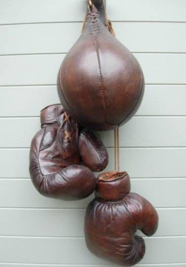 Gants de boxe en cuir