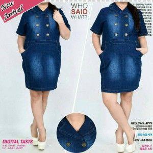 dress jeans button jumbo natasya MTFA08