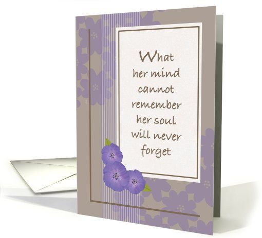 Encouragement for Caregiver of Woman with Alzheimer's Disease card
