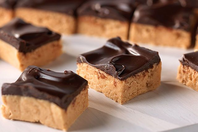 Your turn to bring treats? We've got it from here. Each bar is a chunk of no-bake peanut-butter-and-chocolate paradise.