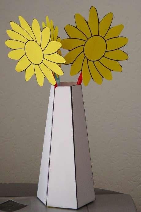 Bloemenvaasje.  www.gelovenisleuk.nl moederdag