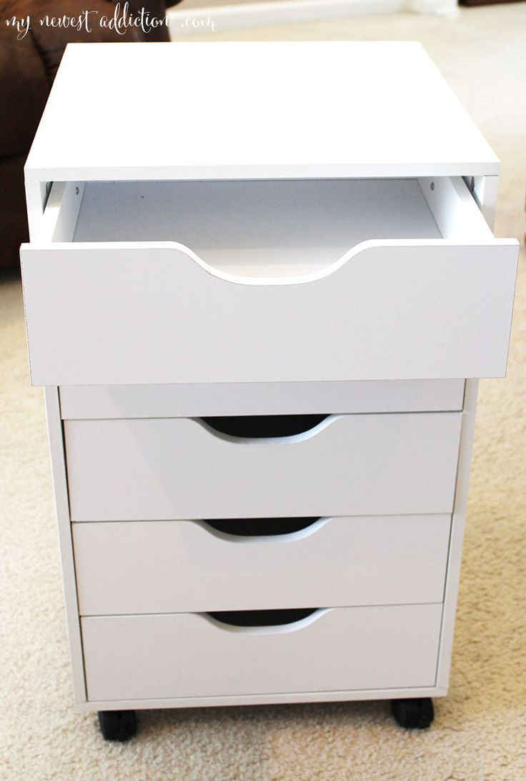Perfect Makeup storage, from Micheals. ikea alex drawers dupe