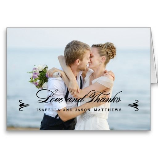 ELEGANCE | WEDDING THANK YOU PHOTO NOTE CARD
