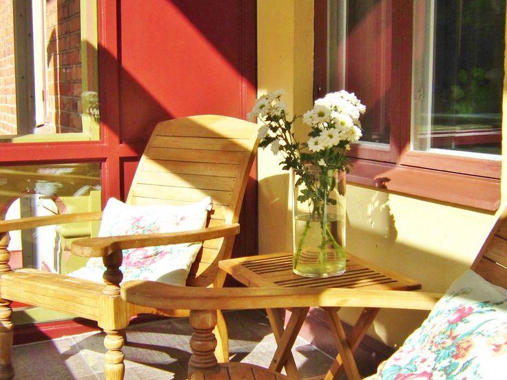 sun porch at Hotel J, Nacka Srand
