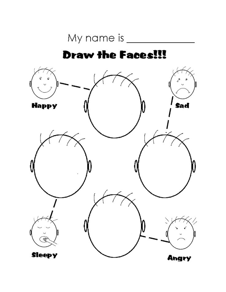 Printables Emotions Worksheets emotion faces search and google on pinterest