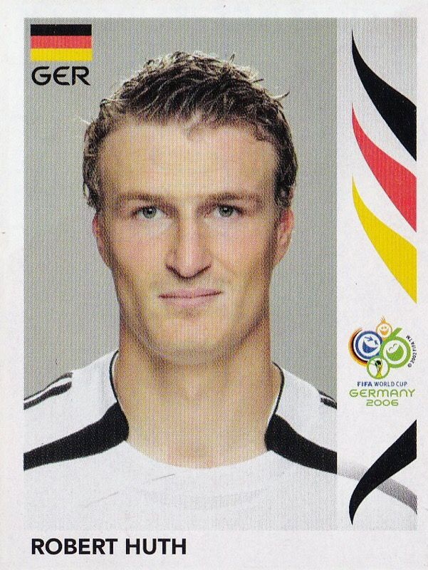 Robert Huth of Germany. 2006 World Cup Finals card.