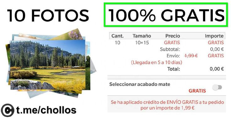 10 fotos impresas disponibles GRATIS - http://ift.tt/2iGFC9M