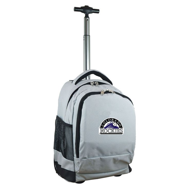 Colorado Rockies 19'' Premium Wheeled Backpack - Gray