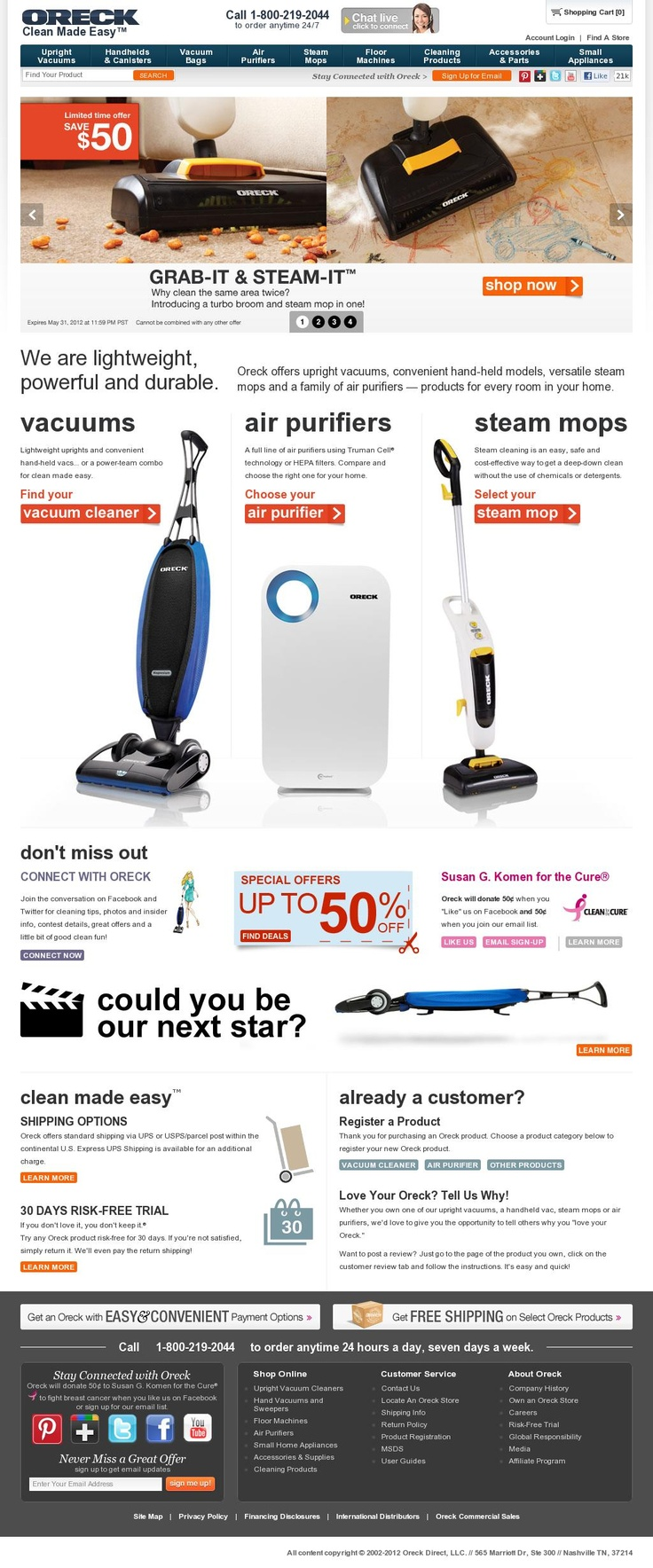Oreck Making Vaccum Cleaners Visual on Pinterest